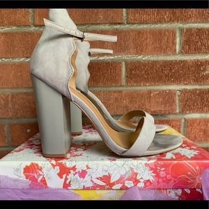Thick Heeled Ankle Strap Sandals